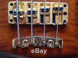 Warwick Streamer LX4 bass with hipshot D-tuner