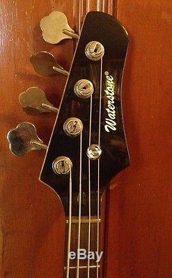 Waterstone Sunburst Lulu Bass Guitar Schaller tuners Neck Modified Sounds Great