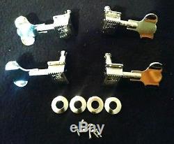 Wavy Vintage Grover Rickenbacker 4001 4005 Bass Tuners, bushings ferrules screws