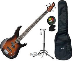 Yamaha TRBX204OVS Old Violin Burst 4-String Bundle with Bag, Tuner and Stan